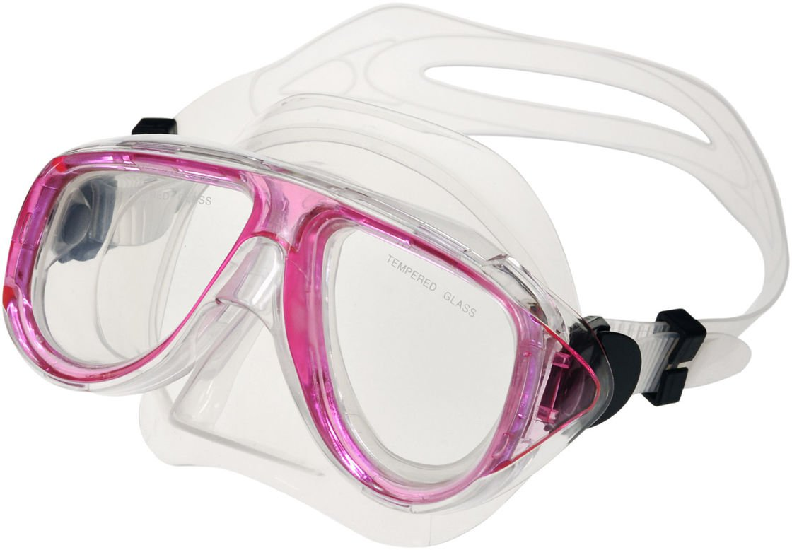 Comfortabel Pink Kids Scuba Mask, Childrens Snorkel Mask Easy Adem