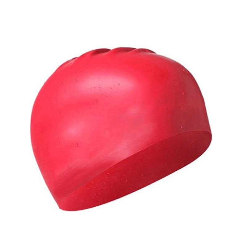 Soft Swimming Caps Red Color , Personalised Swim Caps For Hair Protection