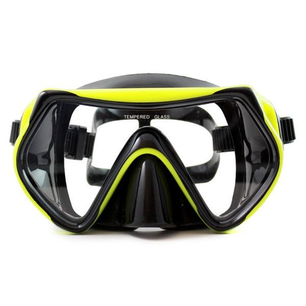Food Grade Silicone Snorkel Mask , Anti-fog Diving Mask for Adult