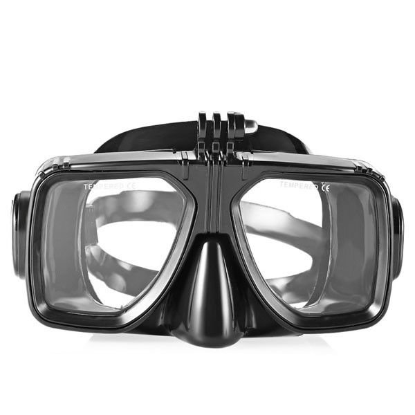 Easybreath Optical Lens Black Color Adult Diving Mask For Snorkeling , PC Frame