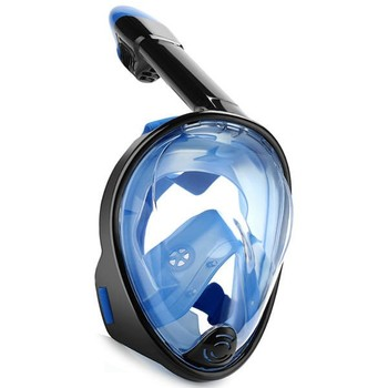 Liquid Silicone Full Face Snorkel Mask SEA Vision 180 degree View