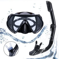 Adults Mask Snorkel Set Diving Snorkeling Freediving Food Grade Lightweight