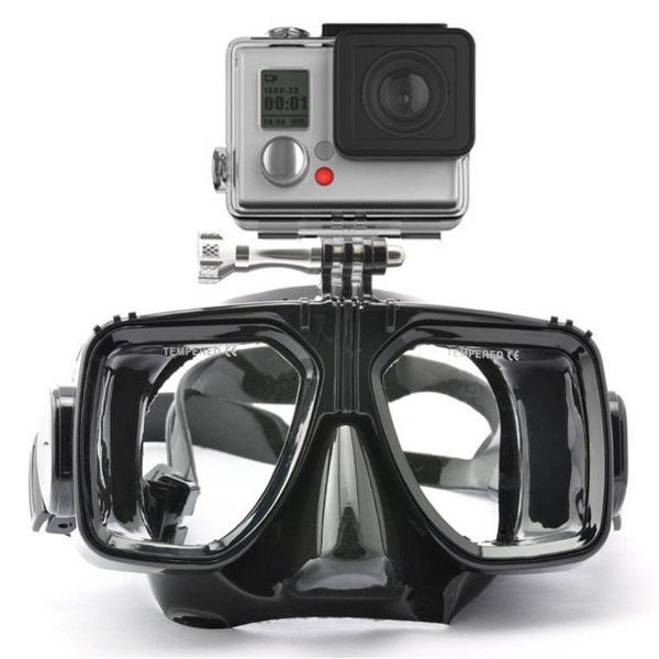 Camera Gopro Adult Diving Mask Flexible Silicone Tempered Glass Leans Snorkeling Usage