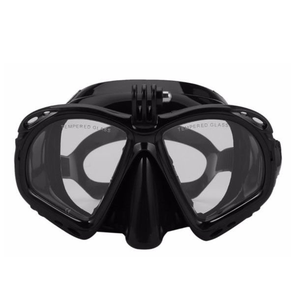 Food Grade Silicone Adult Diving Mask Camera Mount Durable Buckle For Unisex