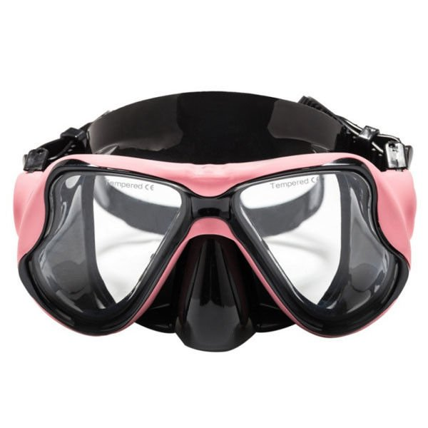 Unisex Swimming Diving Mask Colorful Waterproof Tempered Glass Leans No Chemical Effect