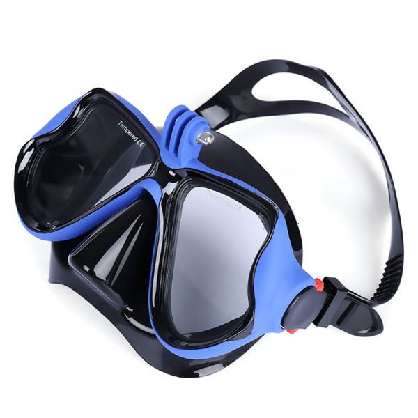 Flexible Adult Snorkeling Equipment , Underwater Diving Mask With Gopro Mount