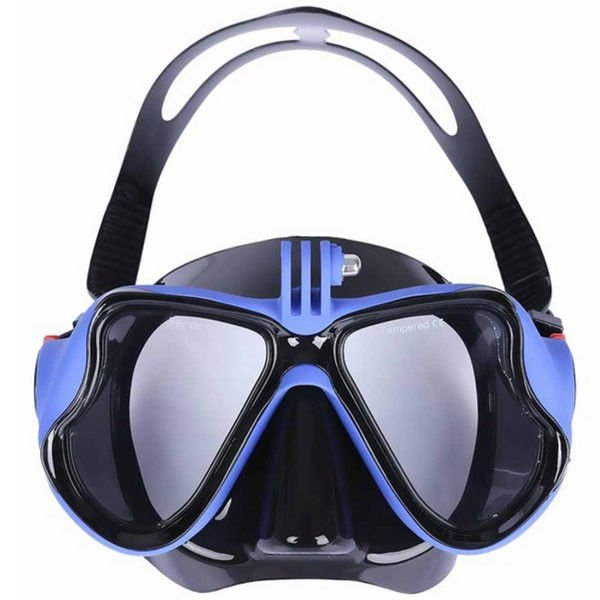 Snorkeling Adult Diving Mask Wide View Colorful Silicone Optical Scuba Type