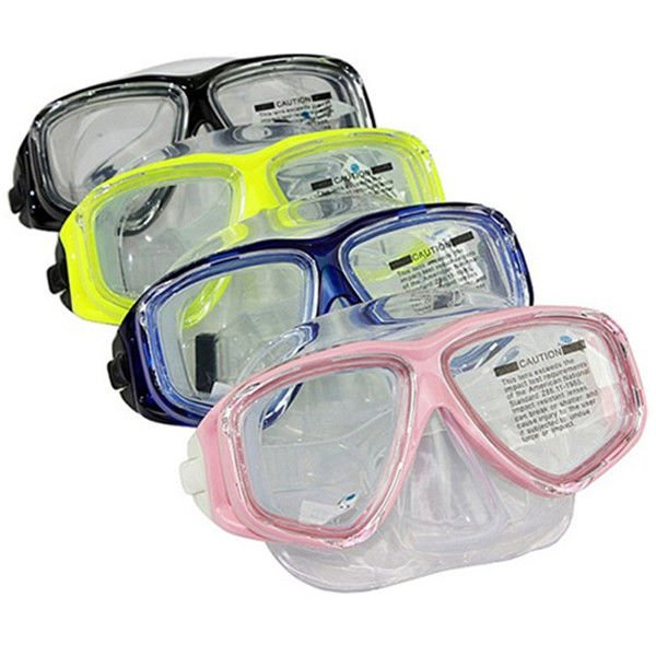 Anti Fog Diving Adult Snorkel Mask PC Frame Colorful Tempered Glass Lens
