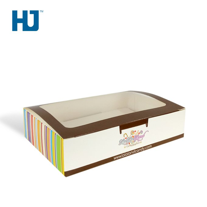 Rectangle Sugar Cardboard Packaging Boxes With PET For Chocolate At Candy Store Or Exclusive Shop
