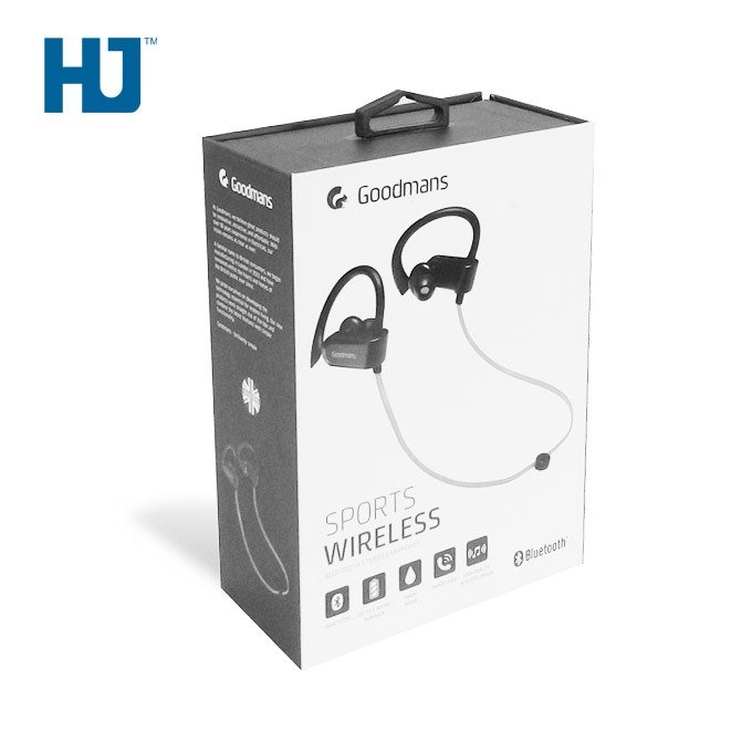 Sport Wireless Earphones Package Box With Folding Cover And Top Handle At Supermarket Retails