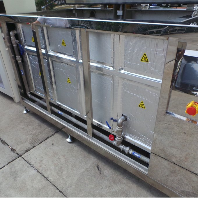 Ultrasonic Cleaner for Diesel Parts with Lift and Oil Removal