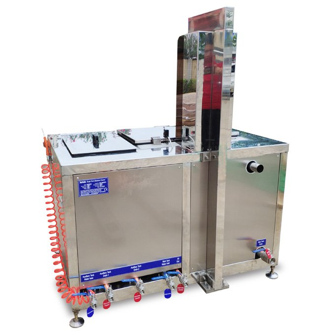 Ultrasonic Cleaner for Small Auto Parts with Lift and Oil Removal