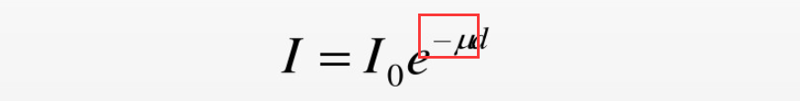 That's the attenuation coefficient μ
