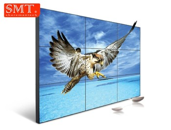 49 inch LCD video wall with 1.8mm bezel 500 nits 1920x1080 FHD indoor floor standing