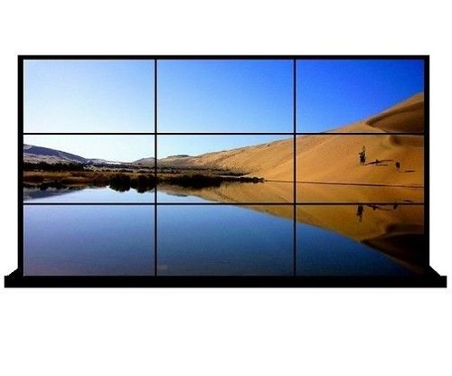 55 inch LCD video wall with 3.5mm bezel 500 nits 1920x1080 FHD indoor floor standing