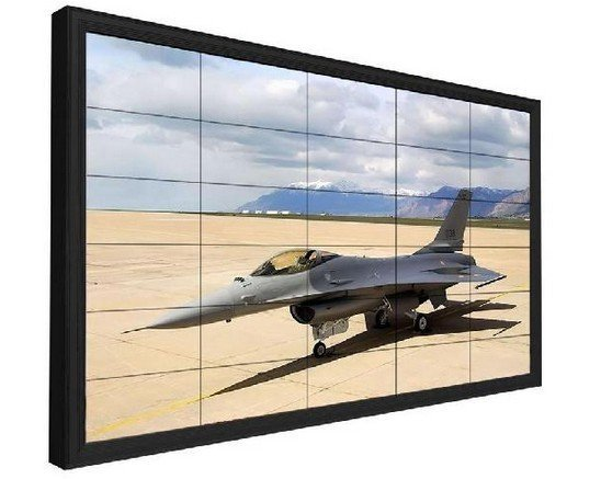 Video wall LCD de 55 pulgadas con bisel de 1.8 mm 500 nits 1920x1080 FHD para interiores
