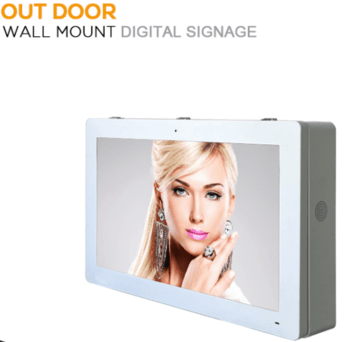 49 inch outdoor digital signage with 2000 nits FHD wall mounted style